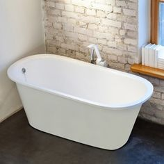 Shop for Aquatica Inflection Freestanding Cast Stone Bathtub. Get free shipping at Overstock.com - Your Online Home Improvement Outlet Store! Get 5% in rewards with Club O!