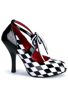Women's Harlequin Shoes #Sexy #Halloween #HighHeels