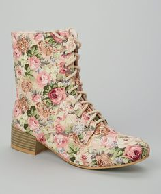 Mauve Floral Moda Boot Gotta pair in off white, I am gonna paint 'em, yep, I must have these, so I will paint my own! Sock Shoes, Shoe Boots, Shoes Heels, Crazy Shoes, Me Too Shoes, Pretty Outfits, Cute Outfits, Thing 1, Flower Fashion
