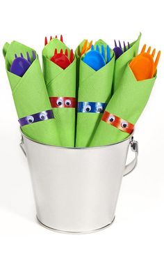 PartyBell.com - Teenage Mutant #Ninja Turtles Filled #Party Favor Bucket