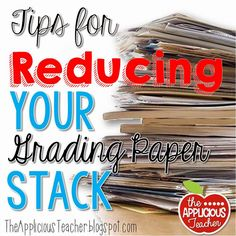 Make your life easier and reduce your paperload. So many great ideas for keeping your grading paper stack to a minimum.