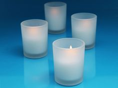 frosted votive holders glass tealight tea light candle holders white wedding decorations 72 for $72