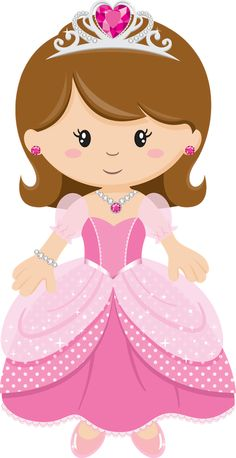 Cute Clipart � Princess with Pink Dress Princess Cookies, Princess Tiara, Baby Princess, Princess Party, Princess Cartoon, Girl Clipart, Cute Clipart, Diy And Crafts, Paper Crafts