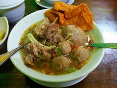 Meatball and noodle soup @ Mie Bakso Solo
