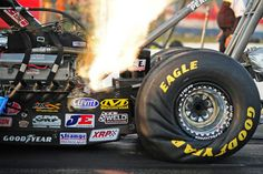 STRANGE RACING PICTURES - AMAZING TIRE DISTORTION OF A RACING SLICK ON A DRAGSTER! - WOW!