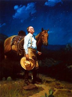 """My all time favorite Bruce Greene print....""""Cowboy Cathedral"""". This painting don't even need a title. As Gus McCrae would say: """"It says itself.""""!"""