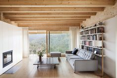 All photos by Adria Goula via AD España With House LLP, a Passivhaus-certified structure erected on steep slope in the Collserola mountain range of Barcelona, Spanish firm Alventosa Morell Architects...