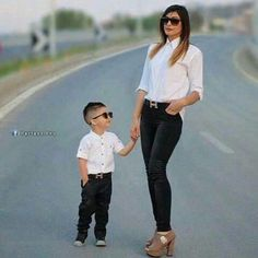 Cute...mother and son