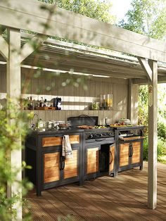 Outdoor Kitchen Ideas on a Budget (Affordable, Small, and DIY Outdoor Kitchen Id.Outdoor Kitchen Ideas on a Budget (Affordable, Small, and DIY Outdoor Kitchen Ideas) diy howtobuild backyards patio smallspaces Outdoor Kitchen Ideas on Simple Outdoor Kitchen, Rustic Outdoor Kitchens, Outdoor Kitchen Plans, Backyard Kitchen, Kitchen On A Budget, Outdoor Rooms, Backyard Patio, Diy Kitchen, Kitchen Ideas
