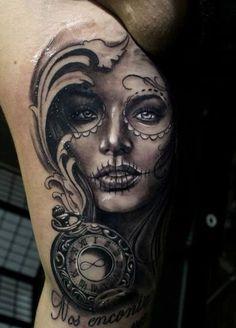 Awesome Day Of The Dead Tattoos jetzt neu! ->. . . . . der Blog für den Gentleman.viele interessante Beiträge - www.thegentlemanclub.de/blog