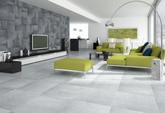 Use the Cement Gris and Marengo 33cm x 66cm Porcelain wall and floor tiles to create this beautiful look. These tiles have a polished satin finish and they are also frost proof. Also available in Beige and Tabaco.
