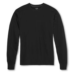 Men's Fruit of the Loom Long Sleeve T-Shirts Black -2XL, Size: Xxl