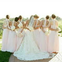 Bride & bridesmaids shot. You can feel the love and friendship :)