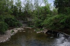 Caesar Creek State Park - Ohio. 20+ Miles of hiking trails. Link to website: http://www.dnr.state.oh.us/parks/parks/caesarck/tabid/720/Default.aspx