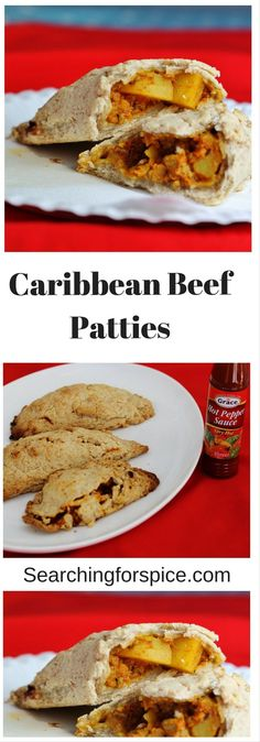 These Caribbean Beef Patties are real comfort food with deliciously rustic homemade pastry! Fast Dinner Recipes, Fast Dinners, Meat Recipes, Wine Recipes, Food Processor Recipes, Savoury Pastry Recipe, Homemade Pastries, A Food, Good Food
