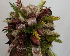 Christmas Lantern Swag christmas swag mantel swag by TheRustyHeart