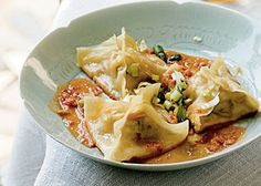 My Favorite Things: Ginger-Shrimp Pot Stickers with Spicy Peanut Dipping Sauce