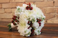 Bridal bouquet for a wedding at The Goei Center.  Bouquet designed by Eastern Floral.