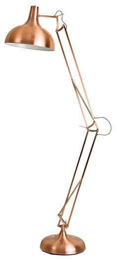 'Anglepoise' stainless-steel floor lamp, $329, Oz Design Furniture