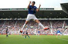Super Kev celebrating his goal against WBA Everton Fc, West Bromwich, Football, Running, Celebrities, Sports, Goal, Soccer, Hs Sports