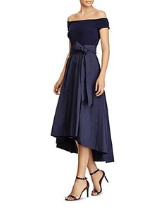 Lauren Ralph Lauren Mixed Media Gown - 100% Exclusive