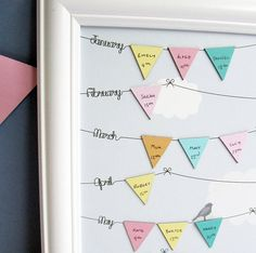 Framed Birthday Reminder Calendar                                                                                                                                                                                 Mehr