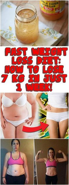 FAST WEIGHT LOSS DIET: HOW TO LOSE 7 KG IN JUST 1 WEEK!