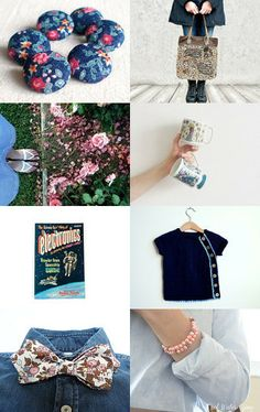 Denim and Pink by Samantha Duncan on Etsy--Pinned with TreasuryPin.com