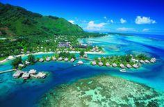 Moorea Intercontinental Beach Resort, Moorea,Tahiti.  Our third Honeymooon spot.