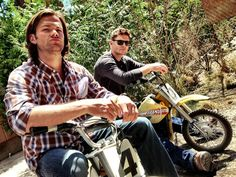 Jared and Jensen on their bikes