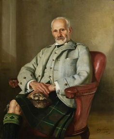 Portrait of George, 2nd Marquis of Aberdeen, 1959  by Sir William Oliphant Hutchison (Scottish 1889 - 1970)