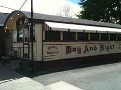I love all the authentic old diners in Massachusetts - like the Day and Night diner in Palmer MA