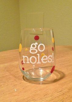 FSU Wine Glass