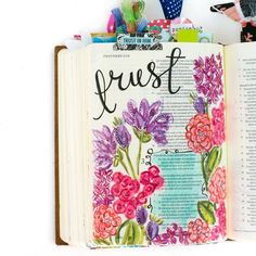 a walk through of some of Amy Bruce's favorite Bible Journaling entries and how this journey has changed her   Illustrated Faith