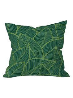 Arcturus Leaves Outdoor Throw Pillow on Gilt