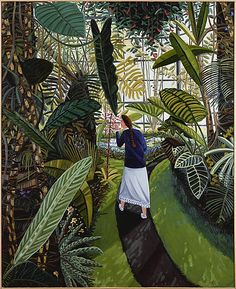 'The Conservatory' (1985) by American artist David Bates (b.1952). Oil on canvas, via the Met, NY