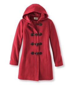 Women's Lambs Wool Duffel Coat  Free Shipping at L.L. Bean - if it fits well, will probably pick up this coat in Maine (I don't understand why Ohio never stocks warm coats)