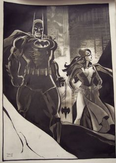 Batman and Catwoman by Tim Sale *