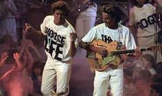 Choose life … Wham! took larking about to evangelical levels.