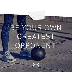 Fitness & Training posted this on Record: It's you vs. you.
