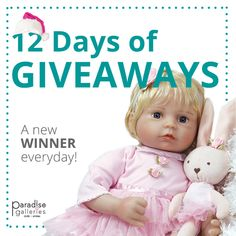 Enter to win a FREE Doll from Paradise Galleries with our Christmas in July Doll-A-Day Giveaways! Victorian Dollhouse, Modern Dollhouse, Real Life Baby Dolls, Miniature Dolls, Miniature Houses, Silicone Baby Dolls, Realistic Dolls, Free Gift Cards, Vintage Paper Dolls