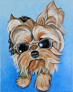 Yorkie Pet Portrait   Gallery - Diana Coltenback Pet Portraiture