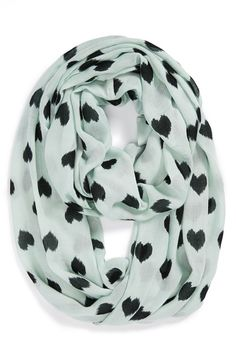 teal and black heart infinity scarf