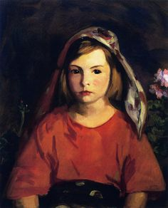 """""""Agnes,"""" Robert Henri, 1921, oil on canvas, 20 x 24"""", private collection."""
