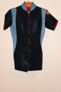 Vintage 60s/70s Wetsuit  Shortie Wetsuit  by LuLusVintageMart, $85.00