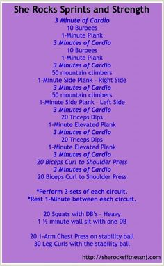 Sprints and Strength workout
