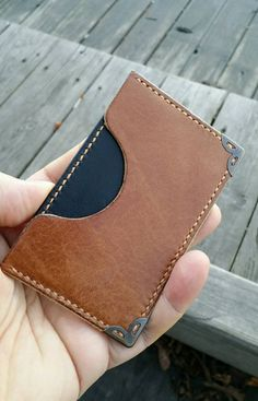 Check out this item in my Etsy shop https://www.etsy.com/nl/listing/252780680/leather-cardholder-two-toned