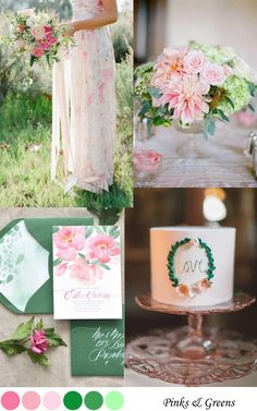Pink & Green Wedding Palette