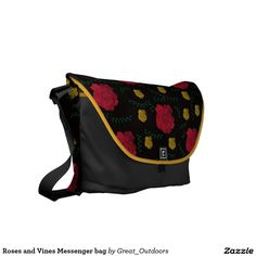 Roses and Vines Messenger bag