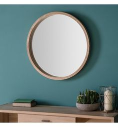 Round mid century mirror